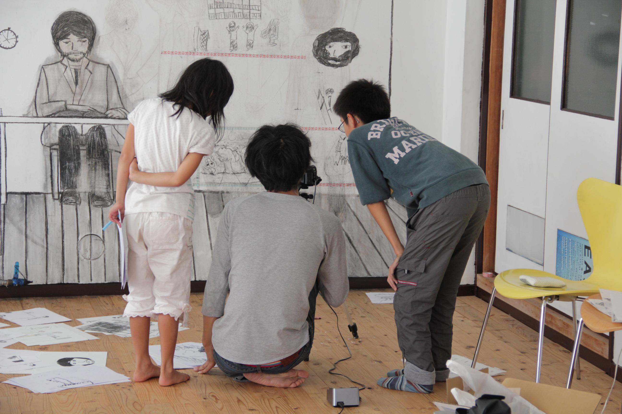ワークショップ「アーティストと作る, ドローイングアニメーション」2019.7.7.開催